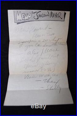 1947 Sheldon Mayer Letter to Howard Purcell Wonder Woman Synopses & Drawing NR