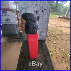 1970s PEZ NO FEET SOFT HEAD WONDER WOMAN USA BEAUTIUFUL CONDITION