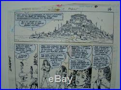 1987 Original Art Wonder Woman #7 Page 14 Signed by George Perez
