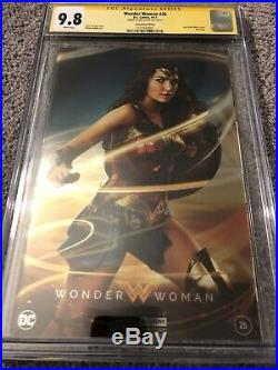 2017 SDCC Wonder Woman #26 Foil Photo Variant CGC 9.8 SS Signed By Gal Gadot