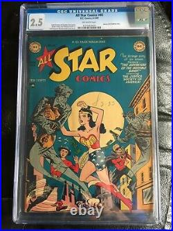 ALL STAR COMICS #46 CGC GD+ 2.5 OW classic Wonder Woman cover