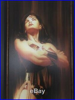Alex Ross Wonder Woman Shadows Signed Framed Giclee Canvas #2 of 50 Sold Out