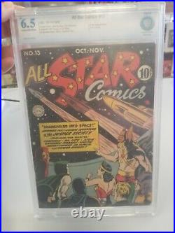 All Star Comics #13 (1942) CBCS 6.5 ad for Wonder Woman #1, Hitler appearance