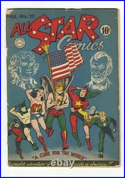 All-Star Comics 22 classic flag cover GVG