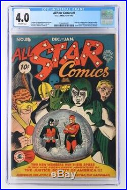 All Star Comics #8 CGC 4.0 VG DC 1942 1st App & ORIGIN of Wonder Woman