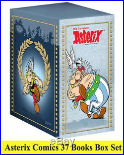 Asterix 37 Comic Books Set Brand New Complete Collection of Big Sized Pbs