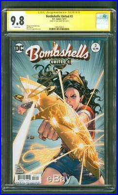 Bombshells United 3 CGC SS 9.8 Wonder Woman Gal Gadot Signed Historic 2017 Cover