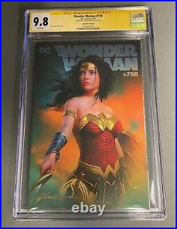 CGC 9.8 SS Wonder Woman #750 Shannon Maer Virgin Cover with Sketch COA Variant DC