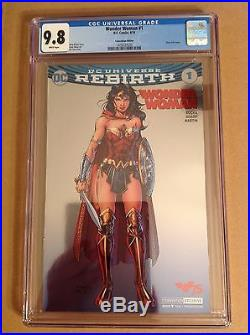 CGC 9.8 Wonder Woman #1 SDCC Convention Foil Variant Cover Rebirth