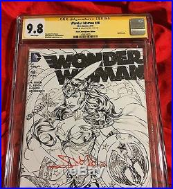 Cgc Ss 9.8wonder Woman #48coloring Book Sketch Variantsigned By Gal Gadot