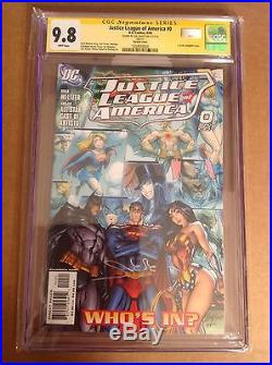 CGC SS 9.8 Justice League of America #0 signed by Gal Gadot Wonder Woman movie