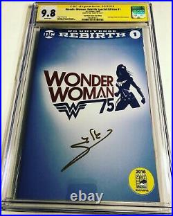CGC SS 9.8 Wonder Woman Rebirth Special Edition #1 SDCC signed Gal Gadot movie