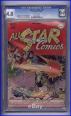Cgc All Star Comics #31 (golden Age 1946) 4.0 Vg Wonder Woman Green Lantern
