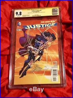 Cgc Ss 9.8justice League #12superman Wonder Womansigned Cavill+gadot+jim Lee