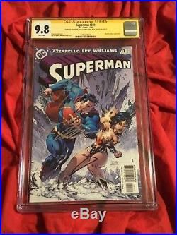 Cgc Ss 9.8superman #211signed By Wonder Woman Gal Gadot+henry Cavill+jim Lee