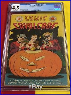 Comic Cavalcade #12 CGC 4.5 OWP, Halloween Cover, Wonder Woman, Justice League DC