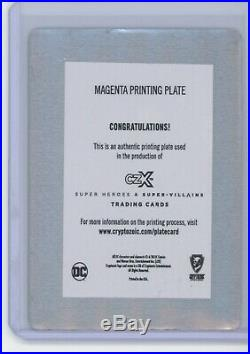 Cryptozoic DC Super Heroes & Villain CZX PRINTING PLATE 1/1 Wonder Woman STR PWR
