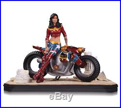DC Comics Wonder Woman Gotham City Garage Motorcycle Statue from DC Collectibles