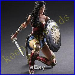 DC Play Arts Kai WONDER WOMAN MOVIE Action Figure Genuine New Toy Collection