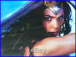 DC Universe Wonder Woman Justice League Poster Signed In Person By Gal Gadot