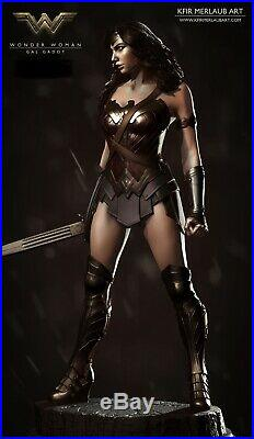 Extremely Rare Custom Glass Godot Movie Wonder Woman 1/4 Scale Statue
