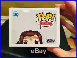 Funko Pop! Justice League Wonder Woman #206 Signed by Autographed Gal Gadot. A+