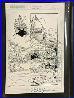 GEORGE PEREZ Original Comic Art 11x17 Page SIGNED teen titans wonder woman rare