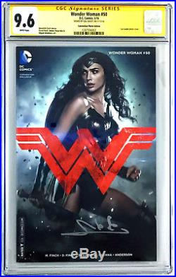 Gal Gadot Signed 9.6 CGC SS Wonder Woman #50 Convention Photo Edition Comic Book