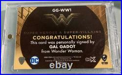 Gal Gadot Wonder Woman CZX Card WithAutograph Fast Free Shipping From Japan(9605N)