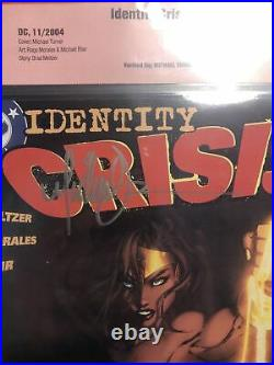 Identity Crisis #4 CBCS 9.4 Signed Michael Turner Wonder Woman Cover