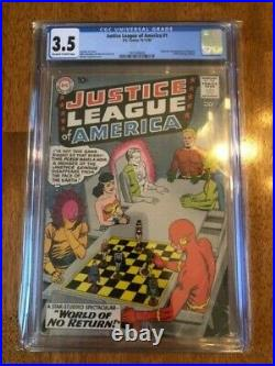 JUSTICE LEAGUE OF AMERICA #1 (1960) CGC 3.5 OWithW DC MEGA KEY