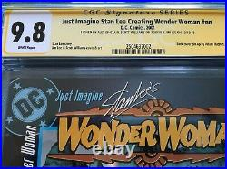 Just Imagine Stan Lee Creating Wonder Woman #1 DC CGC SS 9.8 3x Signed