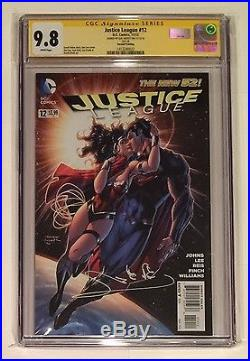 Justice League 12 Jim Lee Wonder Woman Variant Cgc Ss 9.8 Signed Gal Gadot