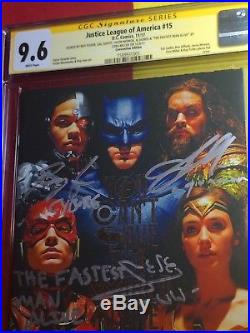 Justice League Of America #15 CGC 9.6 4x Sign & Scribed Gal Gadot, One Of A Kind