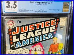 Justice League Of America #1 Cgc 3.5 Key Issue Wonder Woman Bright Colors