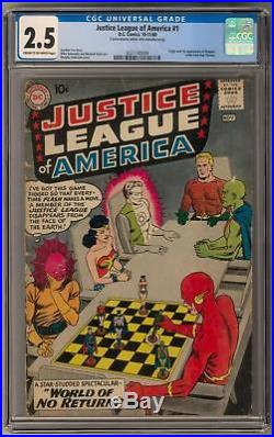 Justice League of America #1 CGC 2.5 (C-OW) Wonder Woman Cover
