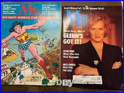 MS. Magazine Collection 1972 1989 First Edition Wonder Woman Cover