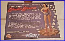 ORIGINAL 2007 Lynda Carter as WONDER WOMAN statue DC Direct withCOA