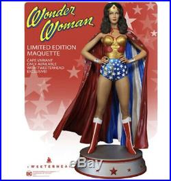 PREORDER SEPTEMBER Wonder Woman Lynda Carter With Cape Variant Maquette Statue