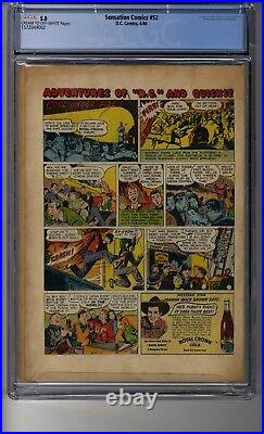 Sensation Comics (1942) # 52 CGC 5.0 Cream/OW Pages The Brand of Madness