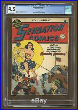 Sensation Comics #1 CGC 4.5 1942 1076379002 2nd app. Wonder Woman