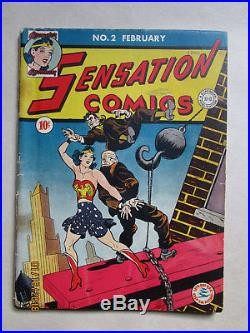Sensation Comics # 2 Very Rare Third Ever Appearance Of Wonder Woman