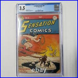 Sensation Comics # 65 CGC 3.5 C 2 OW Pages H. G. Peter Cover and Art
