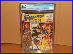 Sensation Comics #87 CGC 6.0 1949 Wonder Woman Ad For Miss Bevery Hills #1