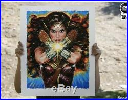 Sideshow Collectibles Premium Art Print Wonder Woman Hell Hath No Fury New