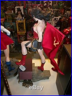 Sideshow Collectibles Premium Format WONDER WOMAN RED SON Statue 1/4 Scale