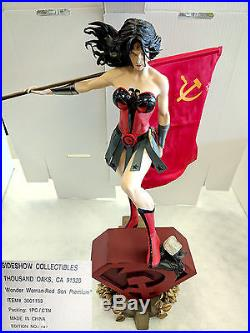 Sideshow Collectibles Wonder Woman Red Son Premium Format Statue #141/1250