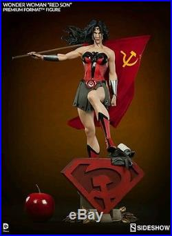 Sideshow Collectibles Wonder Woman Red Son Statue Premium Format DC Comics