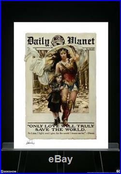 Sideshow WONDER WOMAN ONLY LOVE Art Print Heather Edwards Sold Out 68/250