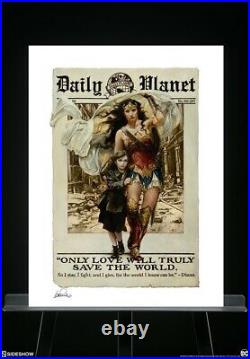 Sideshow WONDER WOMAN ONLY LOVE Art Print Heather Edwards Sold Out 79/250